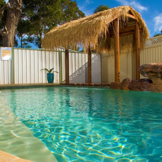 backyard pool - fiberglass pool in new braunfels
