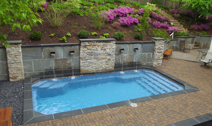 water feature - fiberglass pools in san antonio